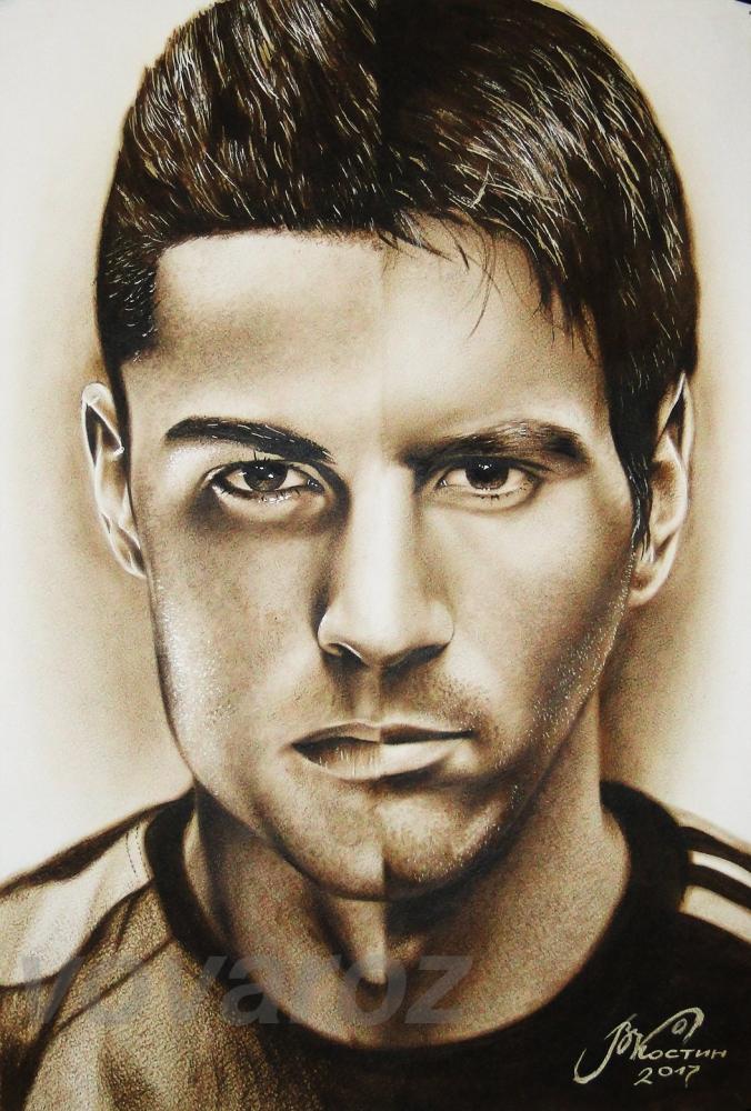 Lionel Messi, Ronaldo by vovaroz